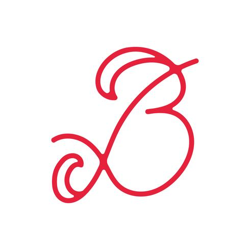 Monoline lettre B