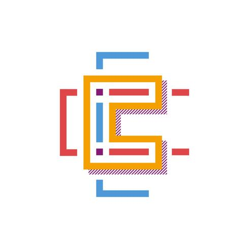 Letter C Typography Vector