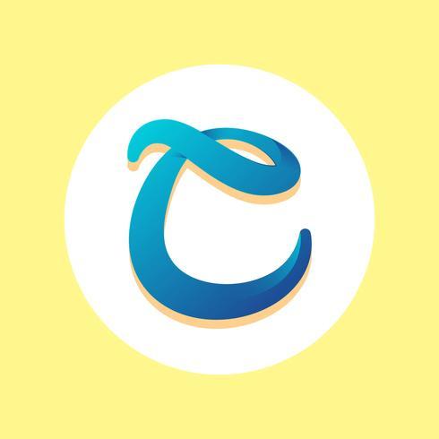 Letter C Typography Vector