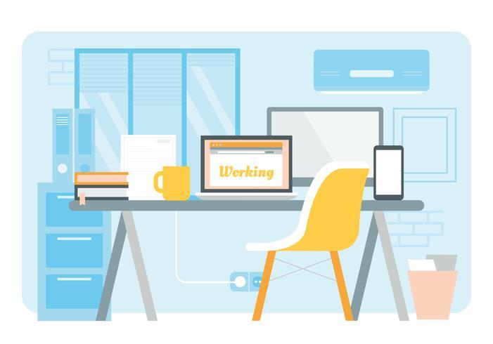 Vektor-Designer-Arbeitsplatz-Illustration