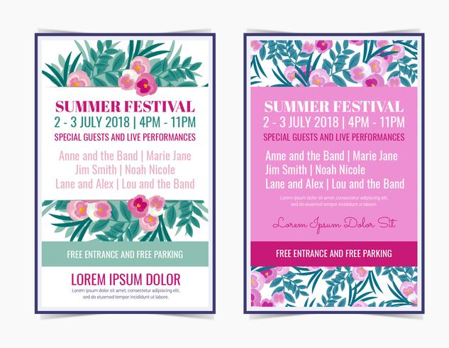 Affiches de Vector Summer Festival