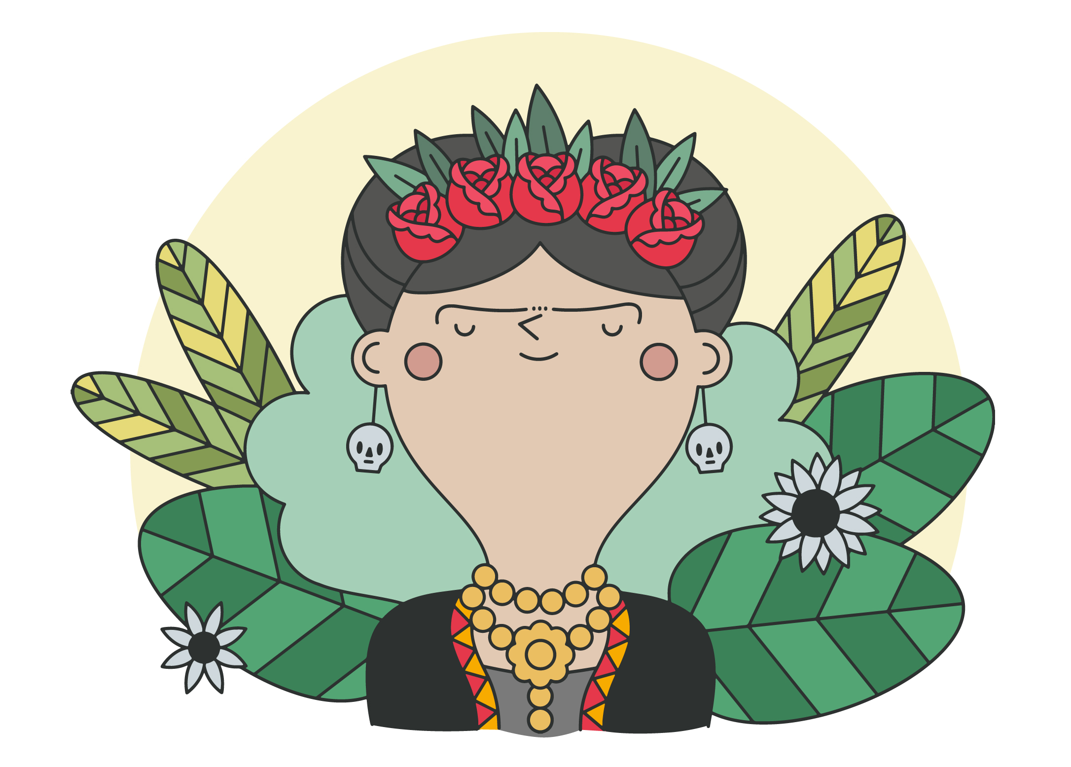 Frida Kalo Para Colorear: Download Free Vector Art, Stock
