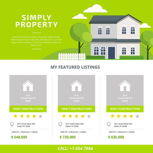 Real estate listing template vector download free vector art real estate listing template vector maxwellsz