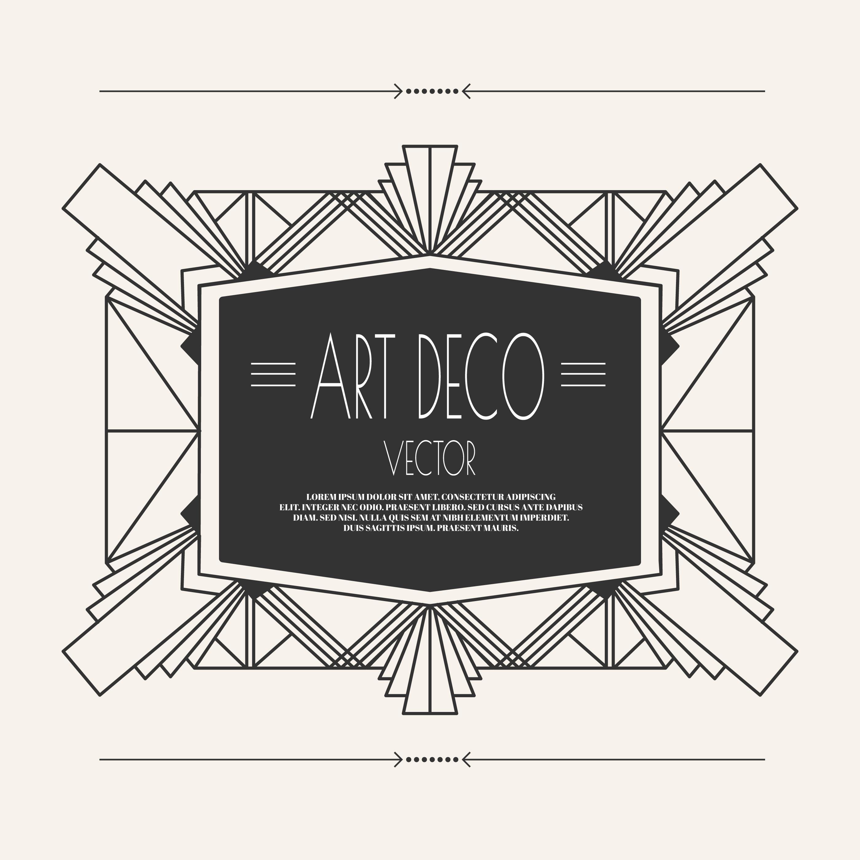 Art Deco Vintage Frame Download Free Vectors Clipart