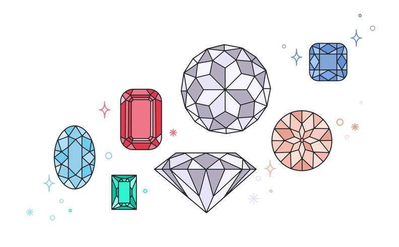 Vecteur de pierre gemme