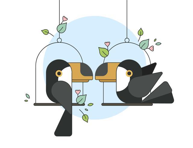 Vecteur de Toucan