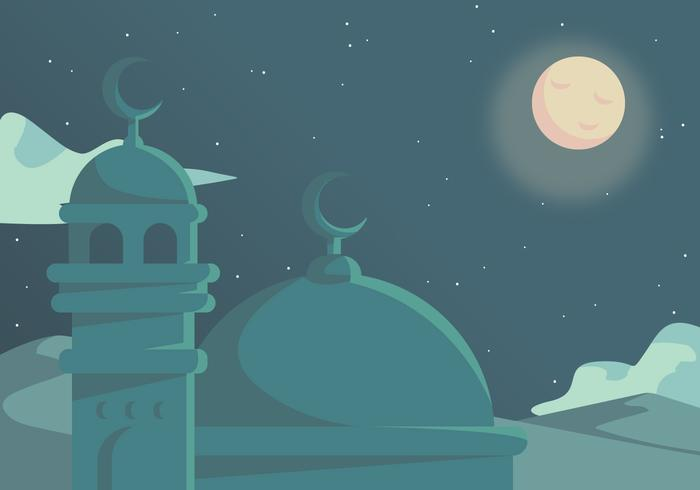 Ramadhan In Dessert Vector