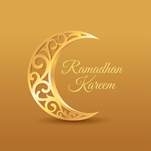 vettore di saluto di ramadhan