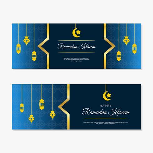 bannière de vecteur ramadan kareem