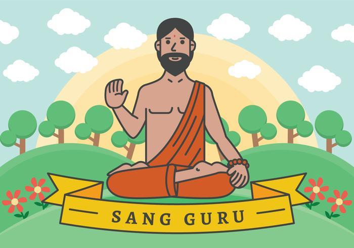 Ilustración de vector de Guru
