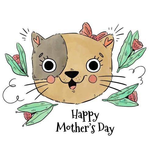 Cute Mom Cat To Mother's Day