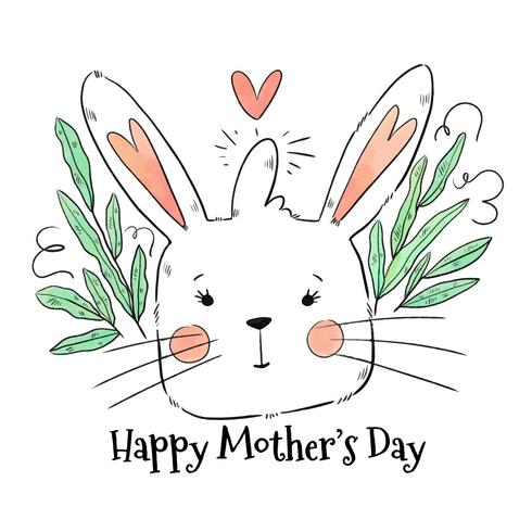 Cute Mom Bunny To Mother's Day