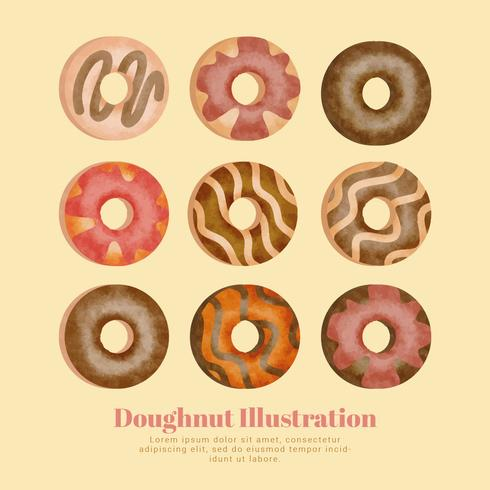 Vector Doughnuts Collection