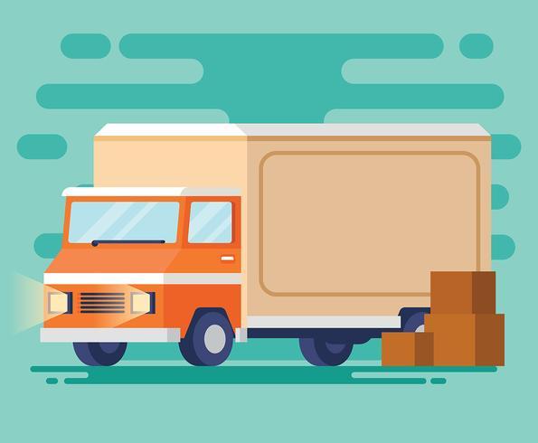 Ilustração de caminhão em movimento