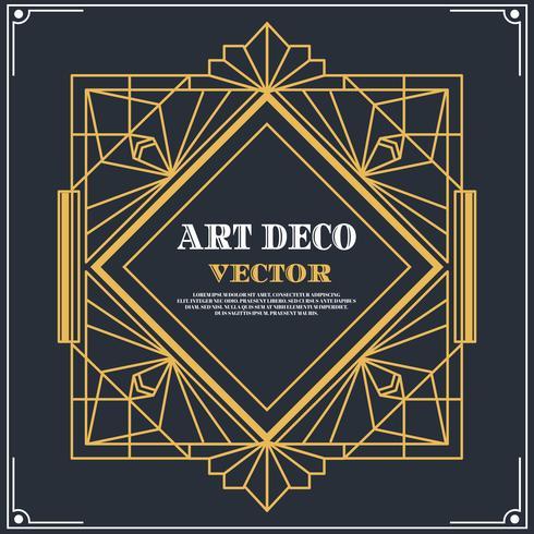 Vecteur de label Art déco