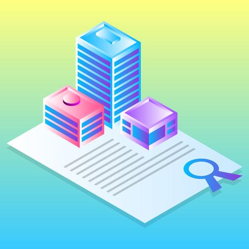 Flat Design Concept For Real Estate Business Vector Illustration