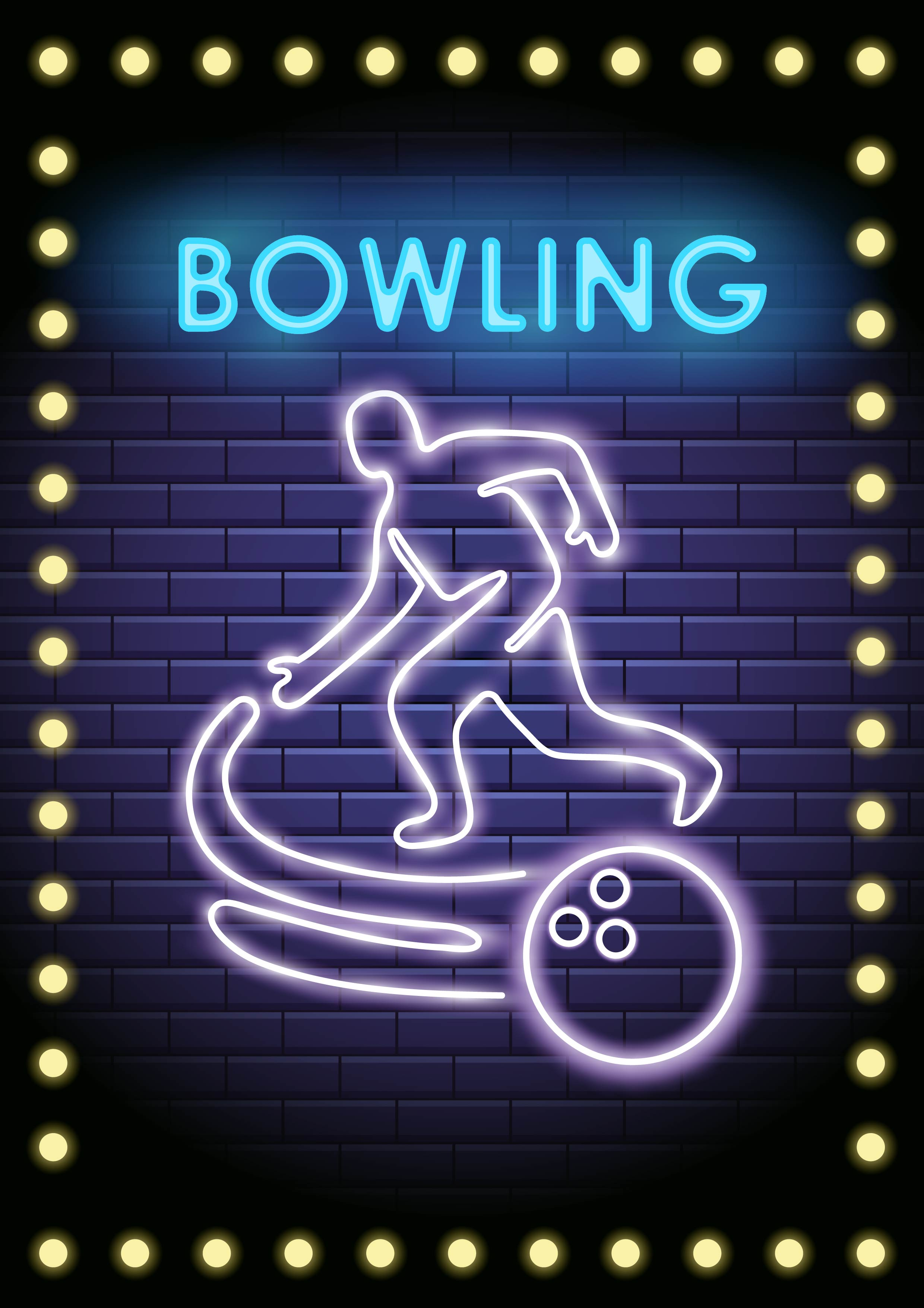 Neon Bowling Player - ...