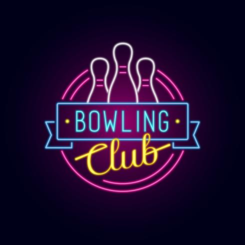 Neon Bowling Sign