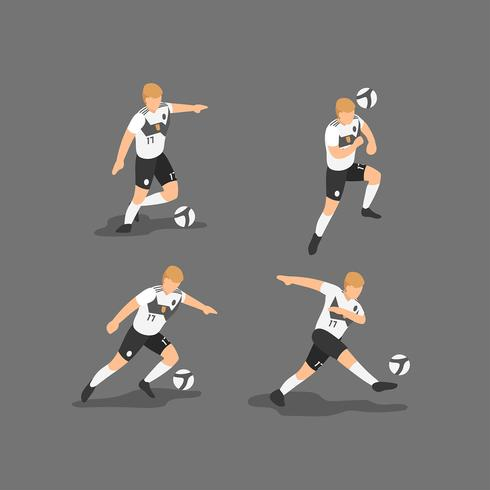 Tyskland Soccer Characters Vector