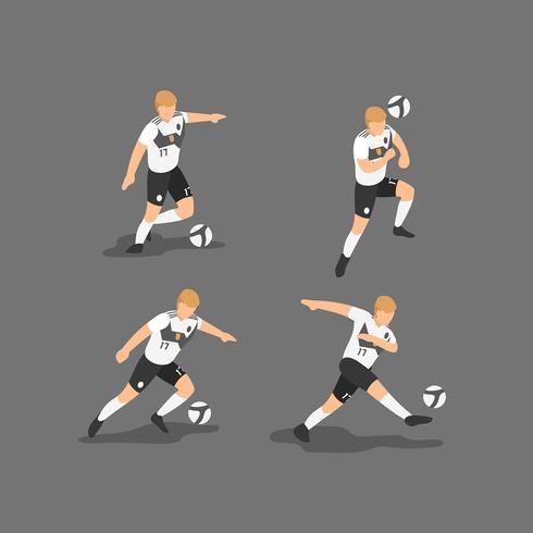 Vetor de personagens de futebol da Alemanha
