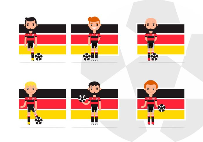 Man German Soccer Player Characters Pack