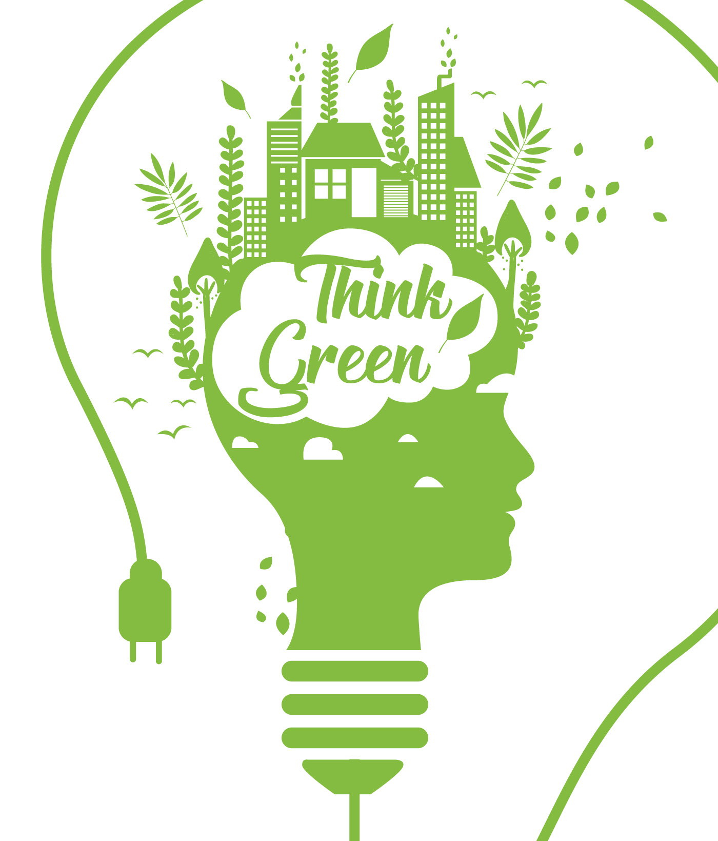 Think Green Poster Vol 3 Vector - Download Free Vectors ...