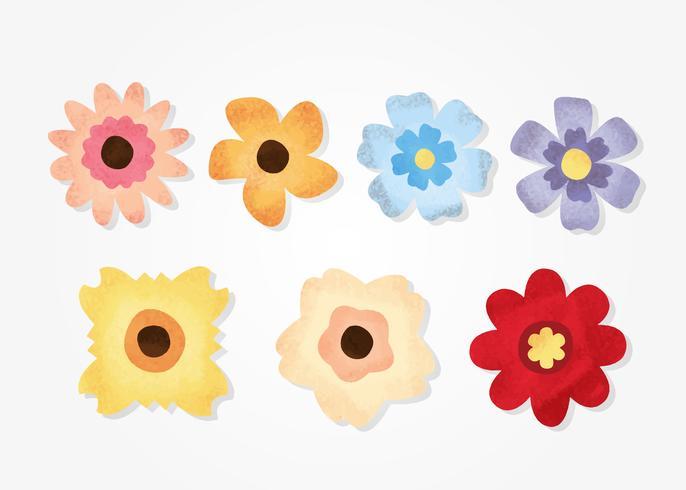 Grunge Textured Flowers