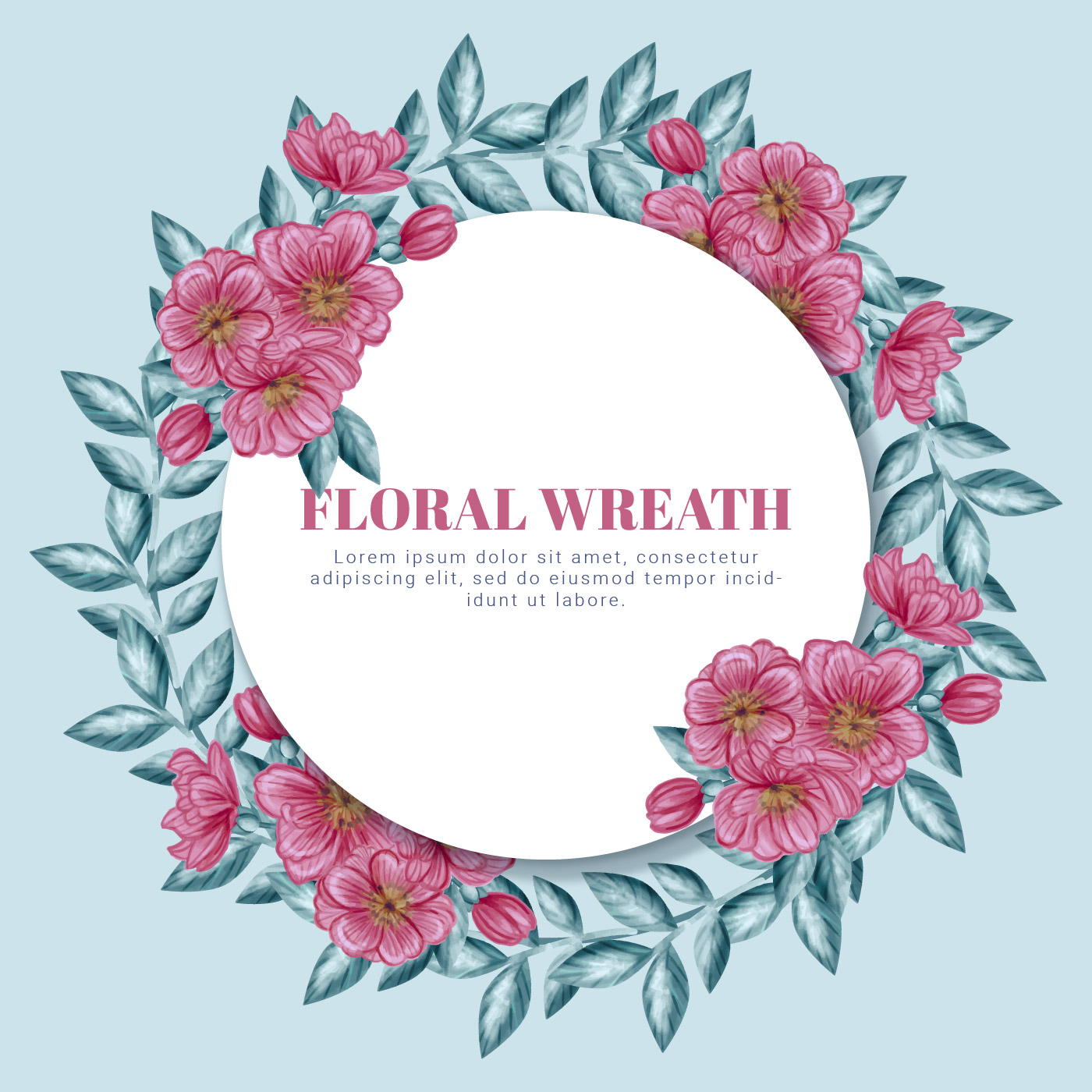 Vector Floral Wreath Download Free Vectors Clipart
