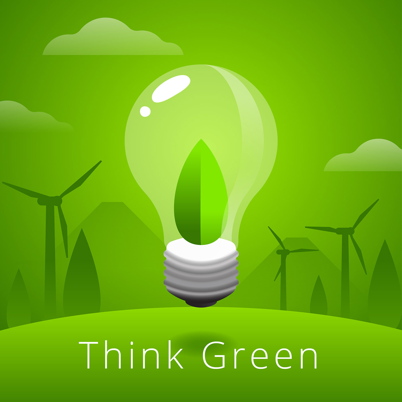 Think Green Vector Download Free Vector Art Stock