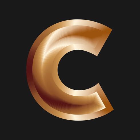 Letra C Tipografia