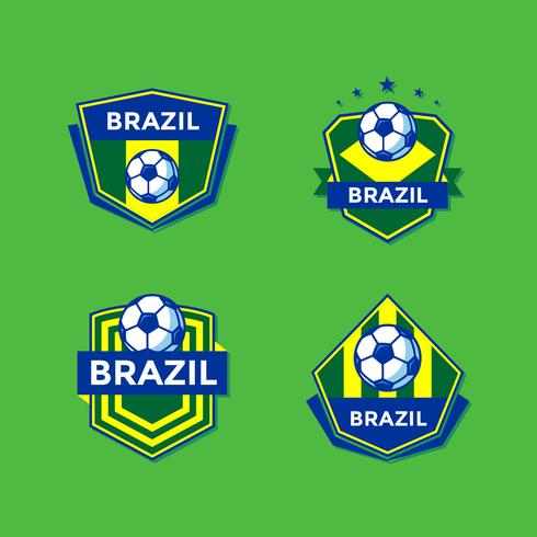 Brazilian Soccer Patches Vector