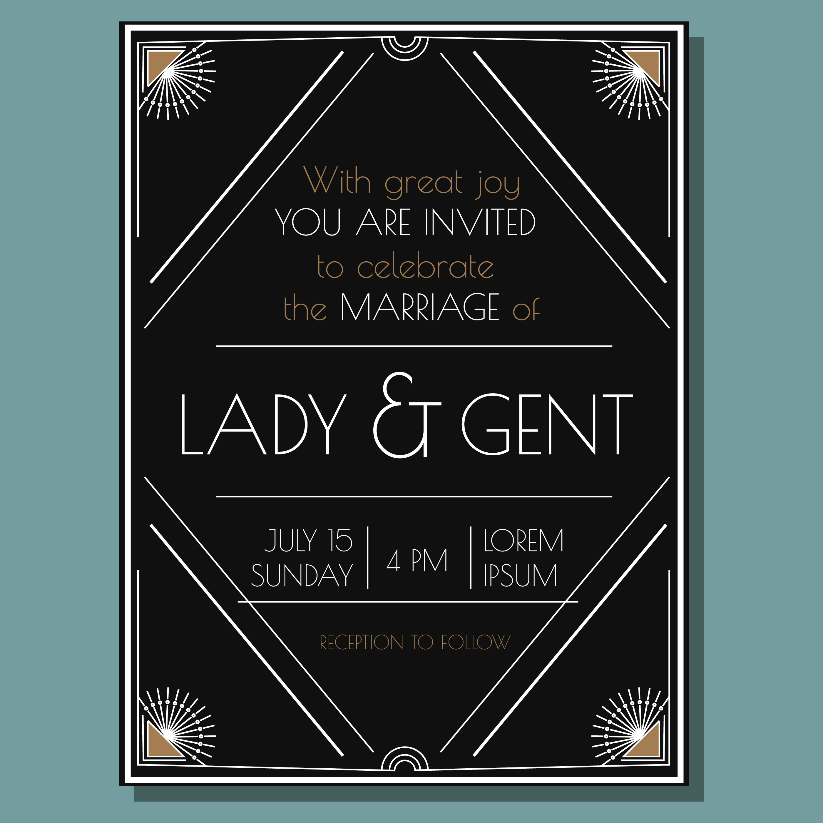 Vintage Wedding Invitation Free Vector Art 16620 Free Downloads