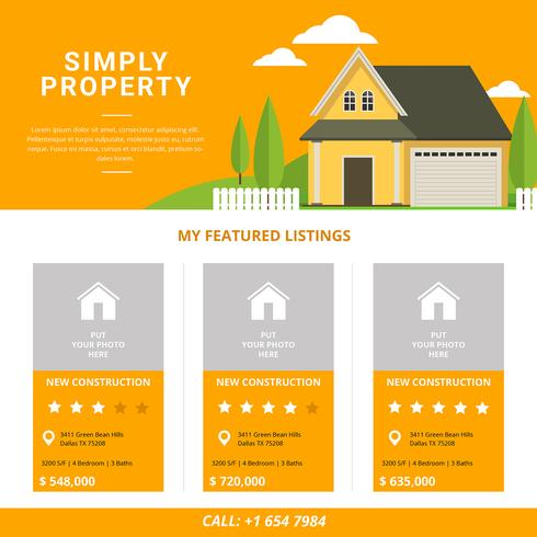 Real Estate Listing Template - Download Free Vector Art, Stock ...