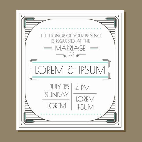 Convite do casamento do encanto do vintage
