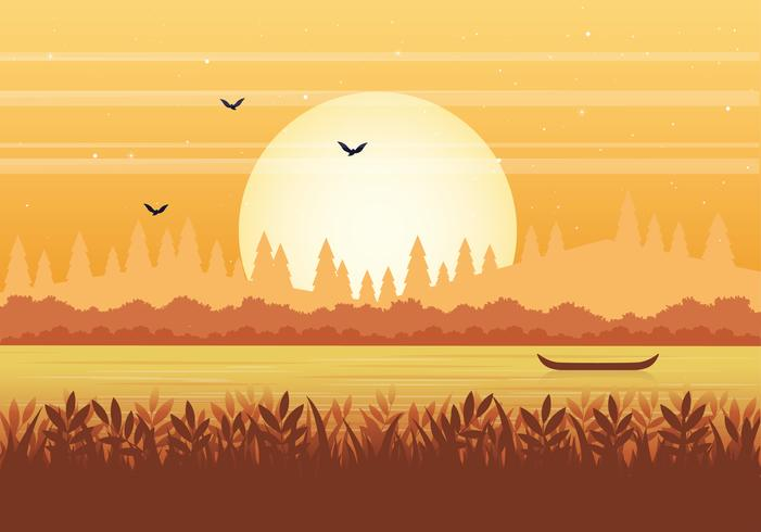Vector Nature Illustration de paysage