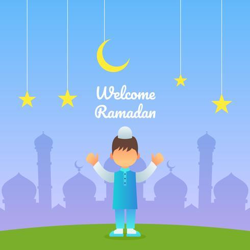 Vetores de Ramadã linda