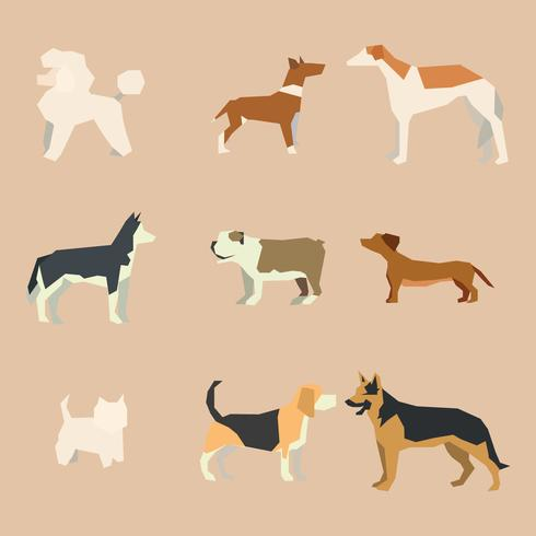 Geometrical Abstract Dogs