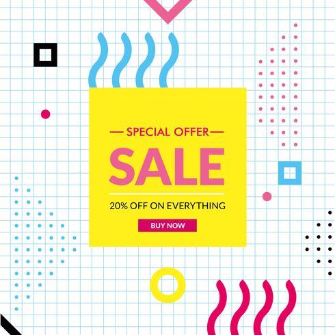 Vector Design de etiqueta de vendas de oferta especial