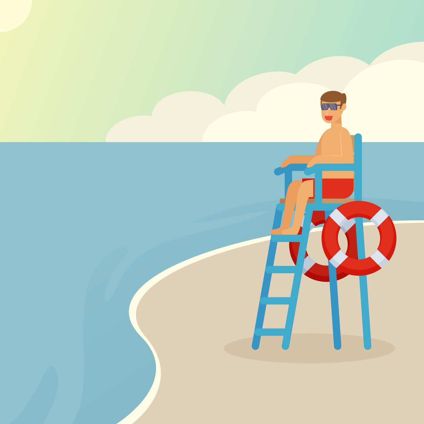 Outstanding Lifeguard Vectors Download Free Vector Art