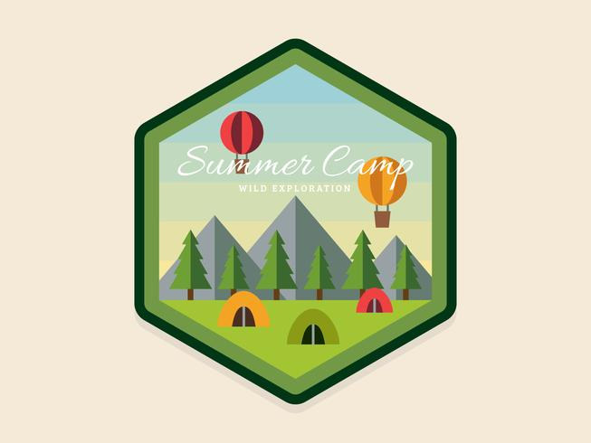 Einzigartige Sommer Camp Patch Vektoren