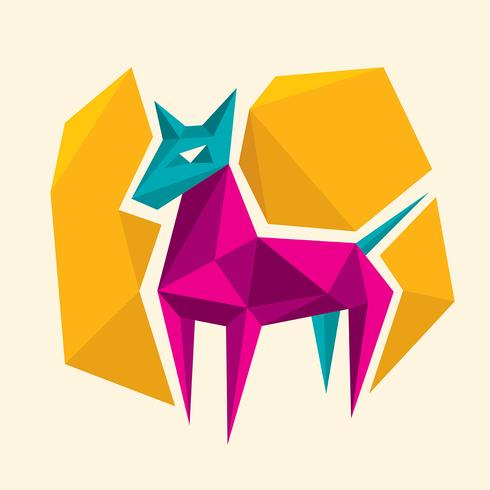 abstract dog