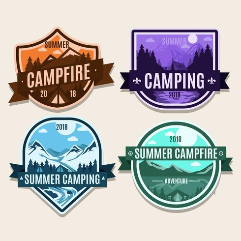 Summer campfire patch Badge 2