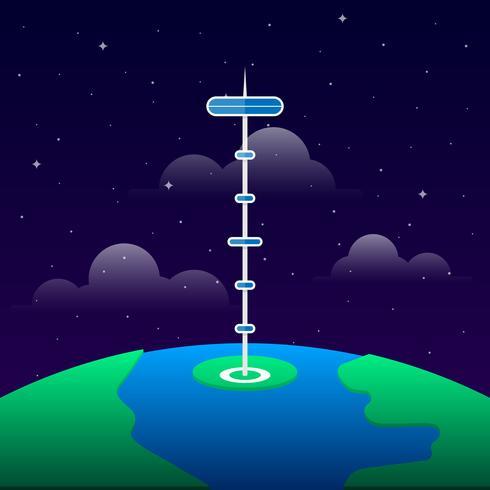 Illustrazione di immagine dell'elevatore spaziale