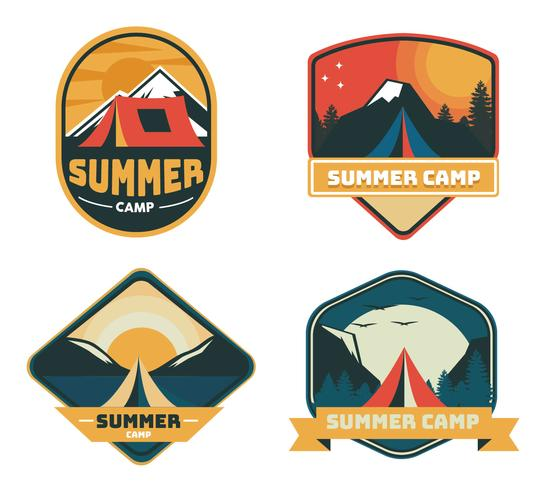 Summer Camp Patch Vector Pack