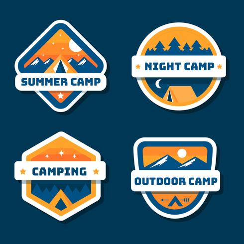 Sommer Camp Patch Sammlung