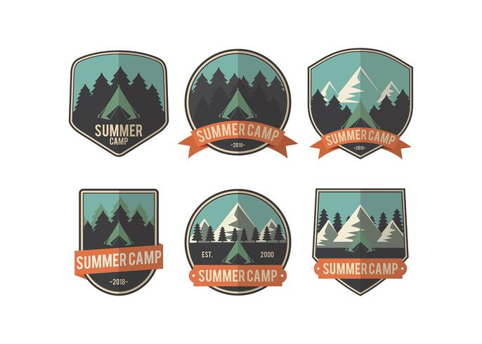 Vecteur de Patch Camp d'été