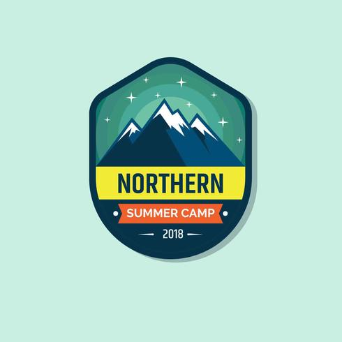 Summer Camp Patch Illustration Vector