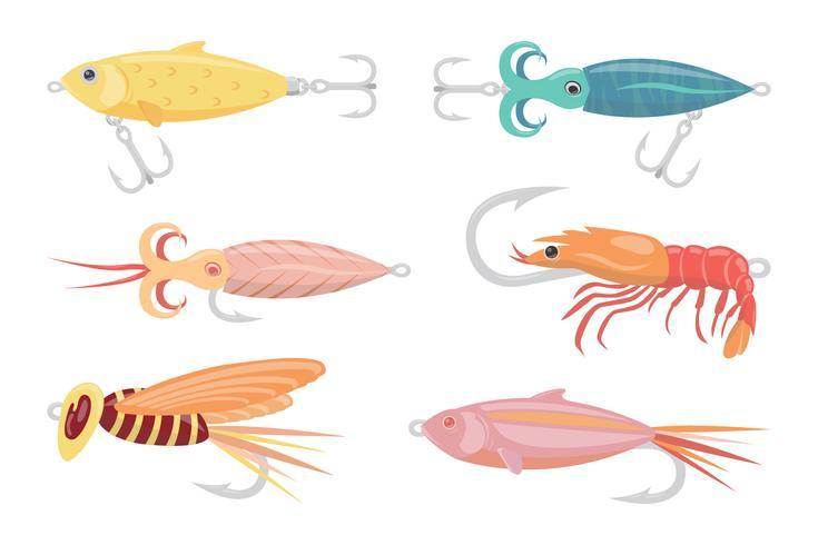 Fliegen-Fischer-Vektor-Sammlung