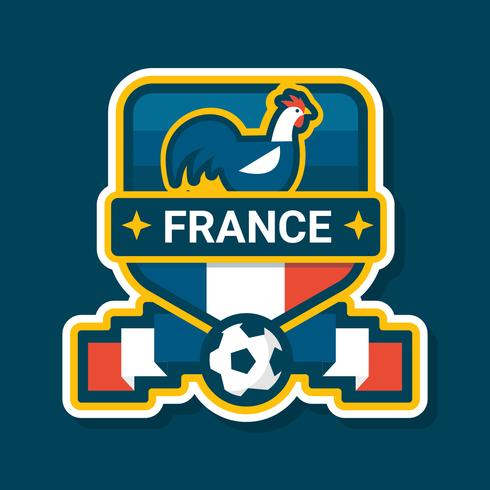 Insignia de fútbol de Francia / diseño de etiqueta