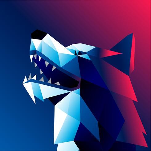 Vector abstracto del perro